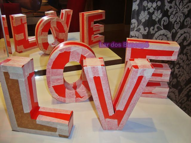 PAP DIY LETRAS na decor