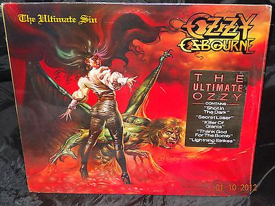 Ozzy Osbourne The Ultimate Sin SEALED USA 1ST PRESS 1986 LP W/ HYPE STICKER