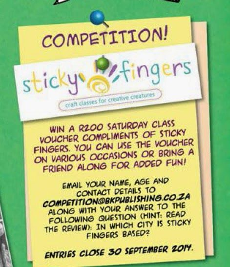 Win a Sticky Fingers craft classes voucher! Supernova vol. 3.6.