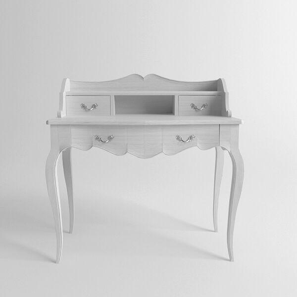 Туалетный столик Provence белый. Артикул: DRT001. Размеры ДхШхВ: 100x53x95 см. Материал: бук. Цвет: белый