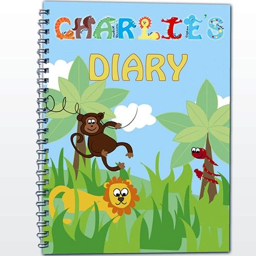 Personalised Diary for Boys - Animal Alphabet  from Personalised Gifts Shop - ONLY £7.99
