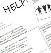 Song Worksheet: Help! by The Beatles (WITH VIDEO)