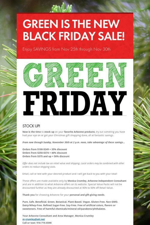 GREEN IS THE NEW BLACK FRIDAY SALE!  Message me for amazing deals!
