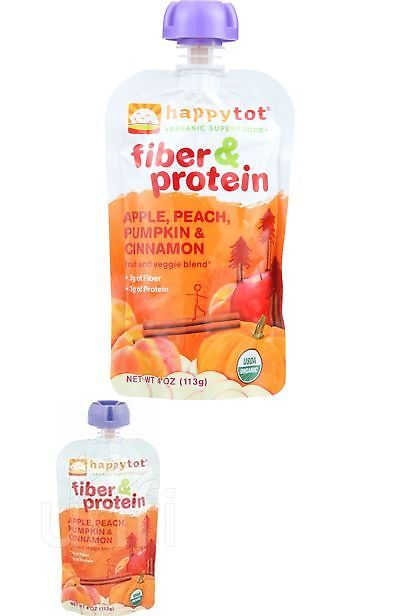 Baby Food 162034: Happy Tot Toddler Food - Organic - Fiber And Protein - Stage 4 - Apple Peach -> BUY IT NOW ONLY: $47.36 on eBay!