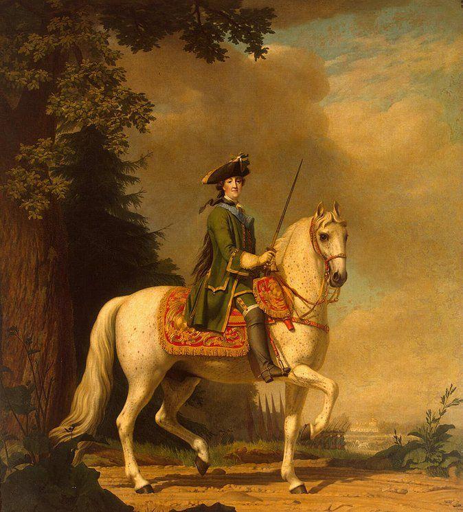 Virgilius Erichsen Equestrian Portrait of Catherine II: