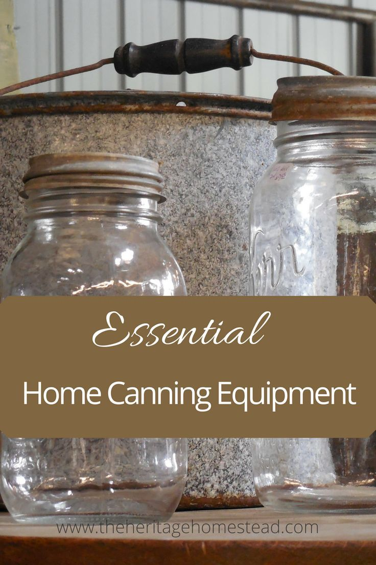 Here's a great list of essential home canning equipment. These are must have items for canning!