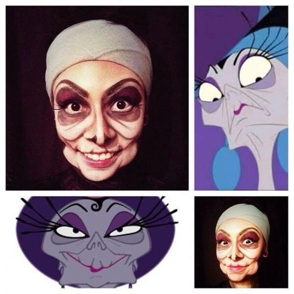Yzma makeup Halloween costume Disney