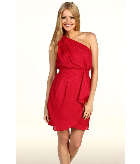 BCBGENERATION One Shoulder Coral Dress, $128.: Games Day Dresses, Flounce Dresses, Ruby Red, Red Dresses, Bcbgener, One Shoulder, Dresses Ruby, Pleated Flounce, Coral Dresses