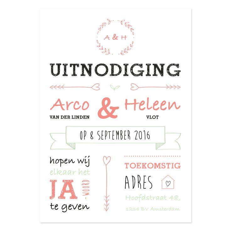 NIEN // Typografische uitnodiging