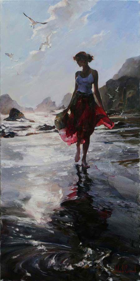 Original Painting, Morning Reflection by Michael & Inessa Garmash