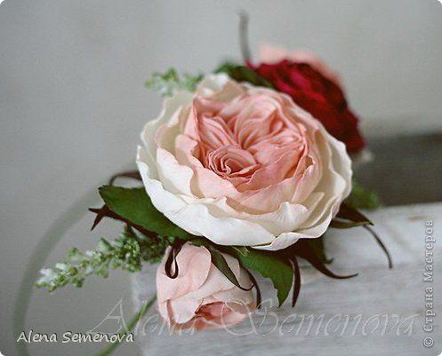 Цветы из махрового фоамирана