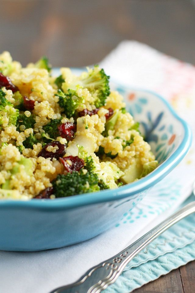 Delicious, crunchy, spicy, and a little sweet - this curried quinoa salad is a great addition to any barbecue! #glutenfree