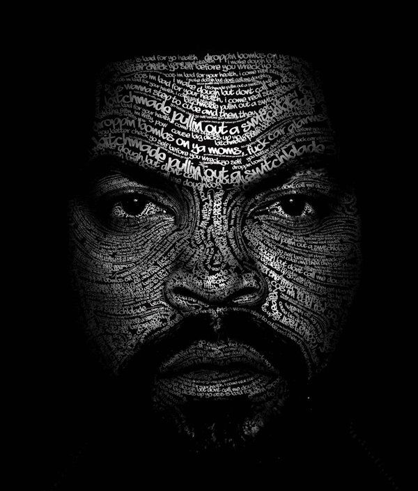 typography portraits by Michael McCabe, via Behance (wow!)