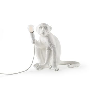 Seletti Monkey Lamp Sitting-White