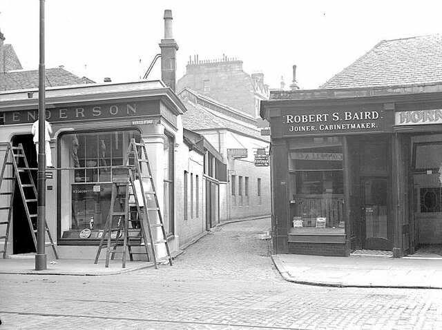Byres Road (entrance to Ashton Lane), Glasgow, September 1933