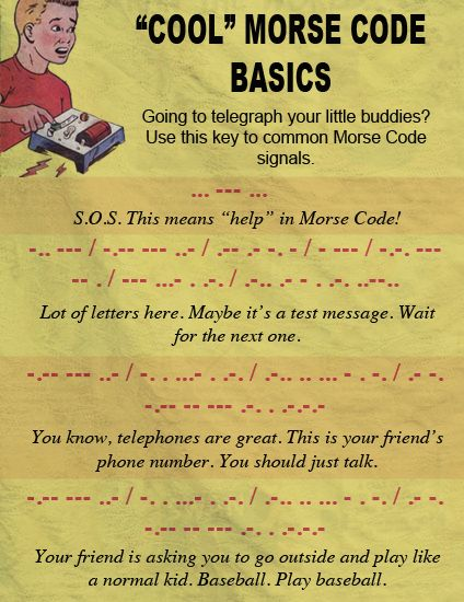 10 best morse code images on Pinterest Graphics, Buzzers and - sample morse code chart