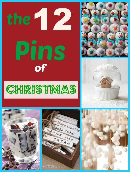 What better way to kick off the holiday season than with my favorite 12 Pins of Christmas! If you follow me on Pinterest, you may have seen me collecting these festive finds. Here are my FAVORITE p...