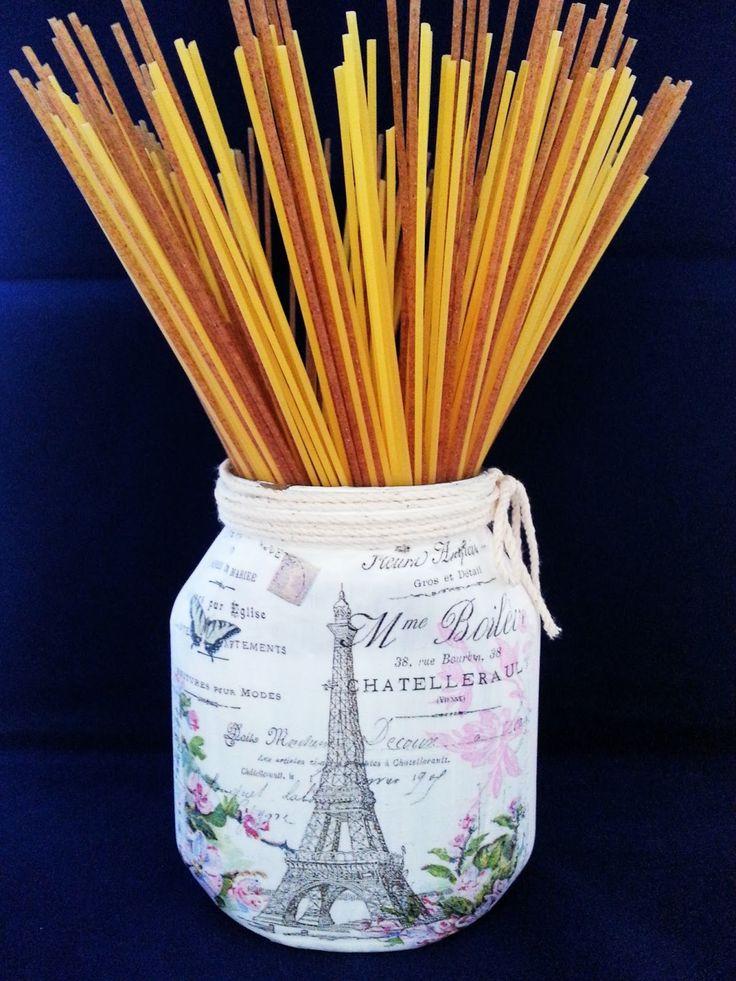 Recycled Paris Jar   Milk with Honey