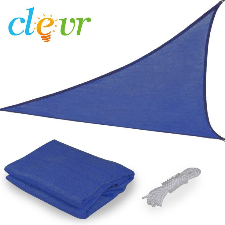 12ft triangle blue sun shade sail canopy