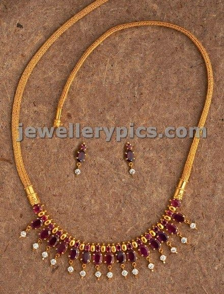 ruby necklace indian design