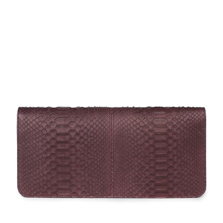 Statement Clutch - pink violet diagonal line by VIDA VIDA