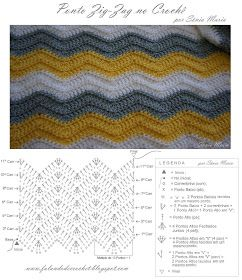 FALANDO DE CROCHET: MANTA DE CROCHE ZIG-ZAG - OLIVIA (crochet ripple blanket pattern free)