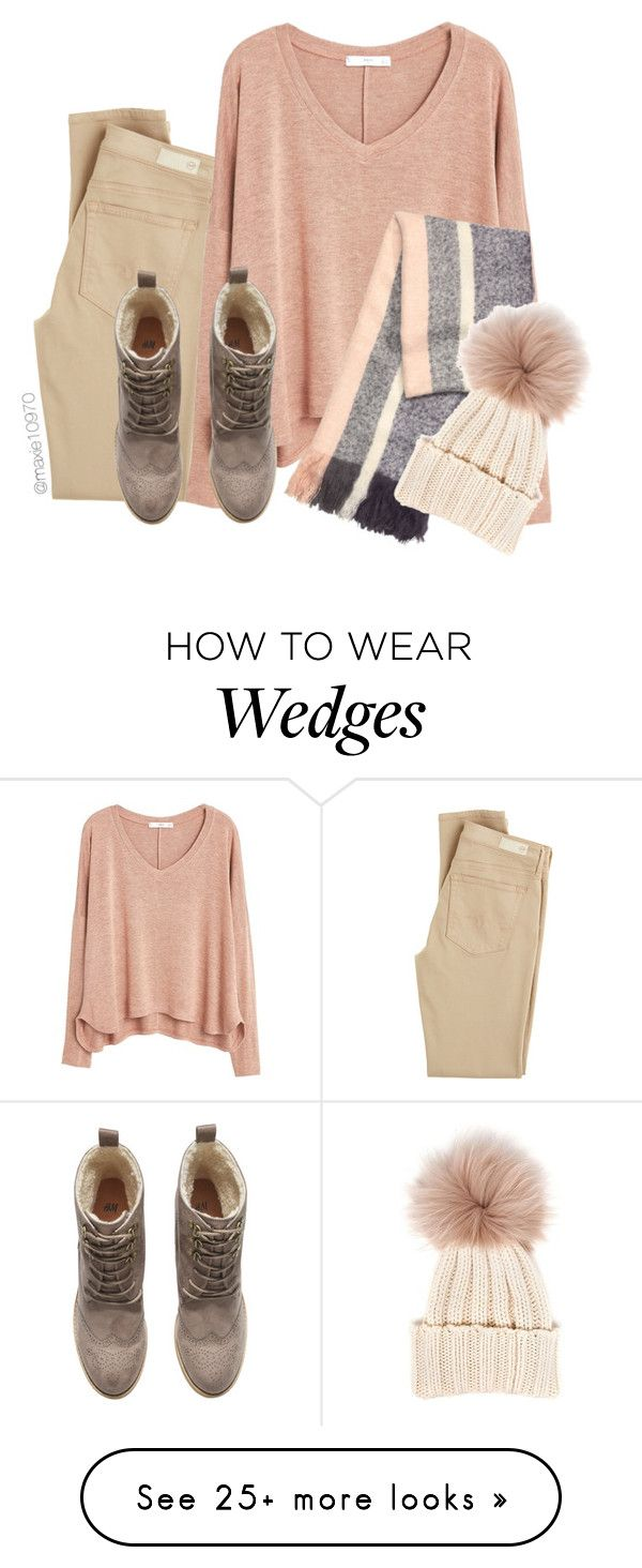 """Cream"" by maxie10970 on Polyvore featuring AG Adriano Goldschmied, MANGO, H&M and Inverni"