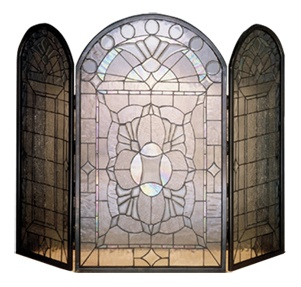 Meyda Tiffany Beveled Glass Clear Folding Fireplace Screen 25  unique Stained glass fireplace screen ideas on Pinterest