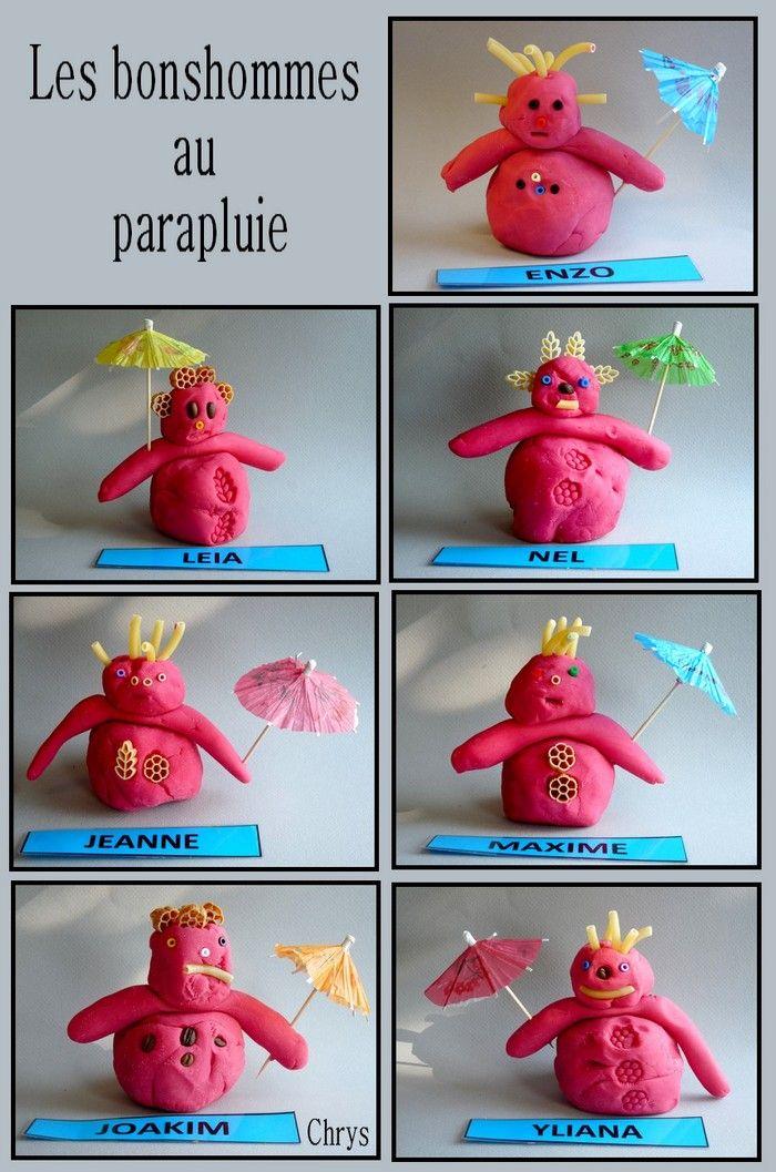 Le bonhomme au parapluie   Parapluie, Bonhomme, Pate a modeler