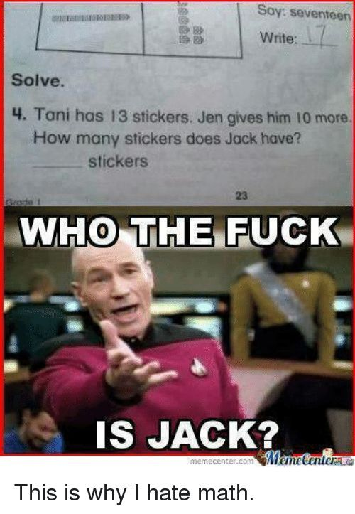 28 funny math memes We Ca