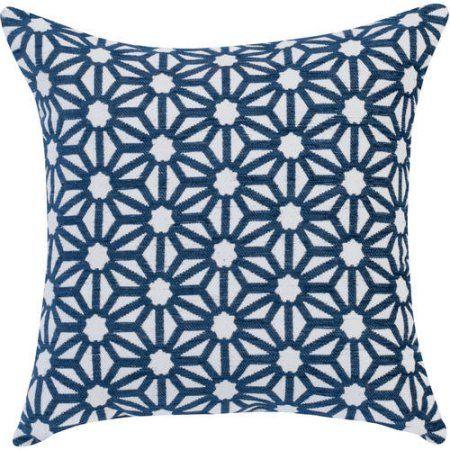 """Better Homes and Gardens Pinwheel Decorative Toss Pillow 18"""" x 18"""", Neutral"""