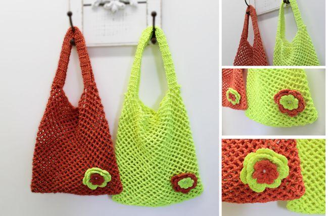 Receita • Bolsas de Crochê Fluorescentes - EuroRoma