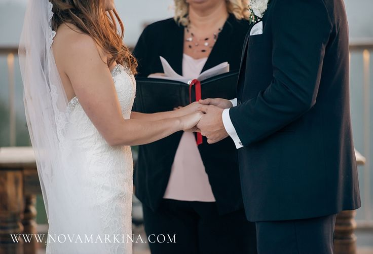 Joining Together in Matrimony || Wedding Ceremony Photography || NovaMarkina Photography || See more of this Le Belvedere Wedding here: http://www.novamarkina.com/blog/le-belvedere-wedding-photography-kristin-ryan