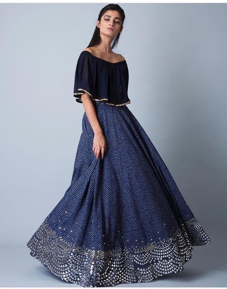 Ridhima Mehra # cape lehengas # blue at its best # indo western