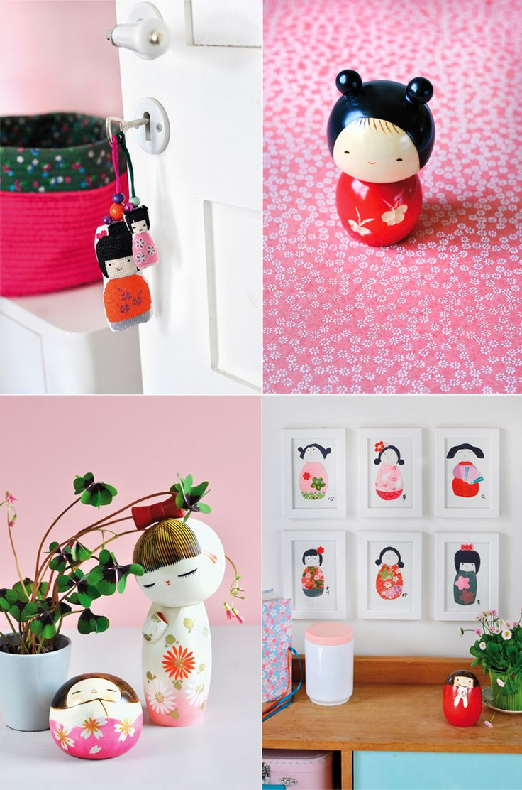 from Mes Petit Kokeshi by Adeline Klam via Griottes.fr blog.