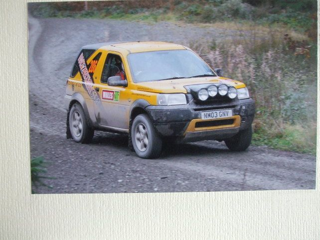 Photographic greetings card of a 'Race2Recovery' Land Rover Freelander. £2.25