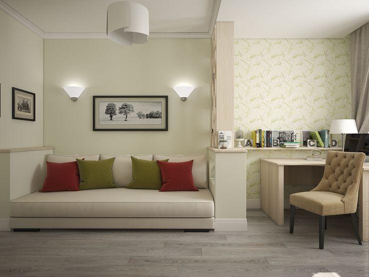 Обстановка второй спальни в трехкомнатной квартире на юго-западе Москвы.