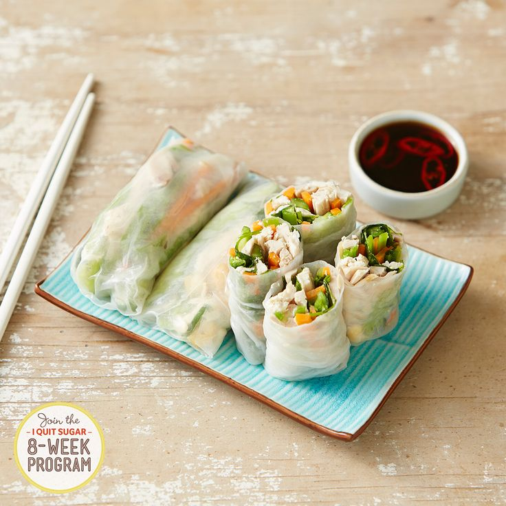Lunch has never looked so healthy and sugar-free! These Vietnamese Rice Paper Rolls are one of the exclusive recipes from our 8-Week Program. Registrations close on January 20. Join here: http://bit.ly/1FRGvf9