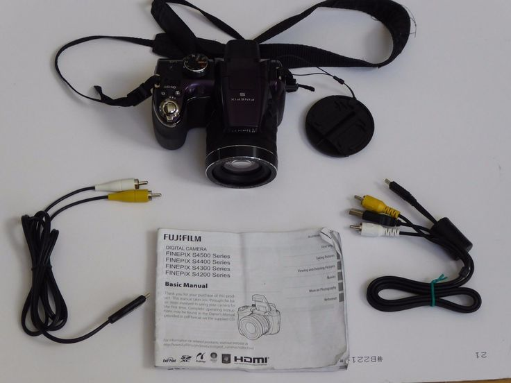 FUJI FINEPIX S4530 30x Optical Zoom 14.0 MP Camera (Purple) 16 GB SD CARD