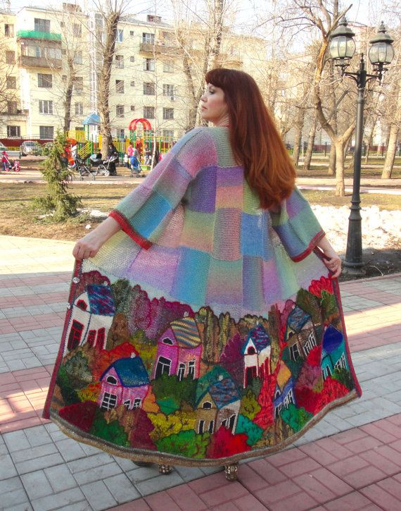 VILLAGE 2 handmade knitted summer coat for women by annalesnikova, $4000.00