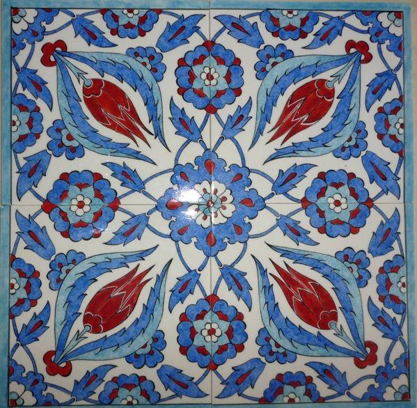 Blue, Turkish tile work, by Hakan AKÇE