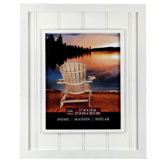 <div><div>Display a cherished photograph or artwork in this wall frame. The stylish beadboard fr...