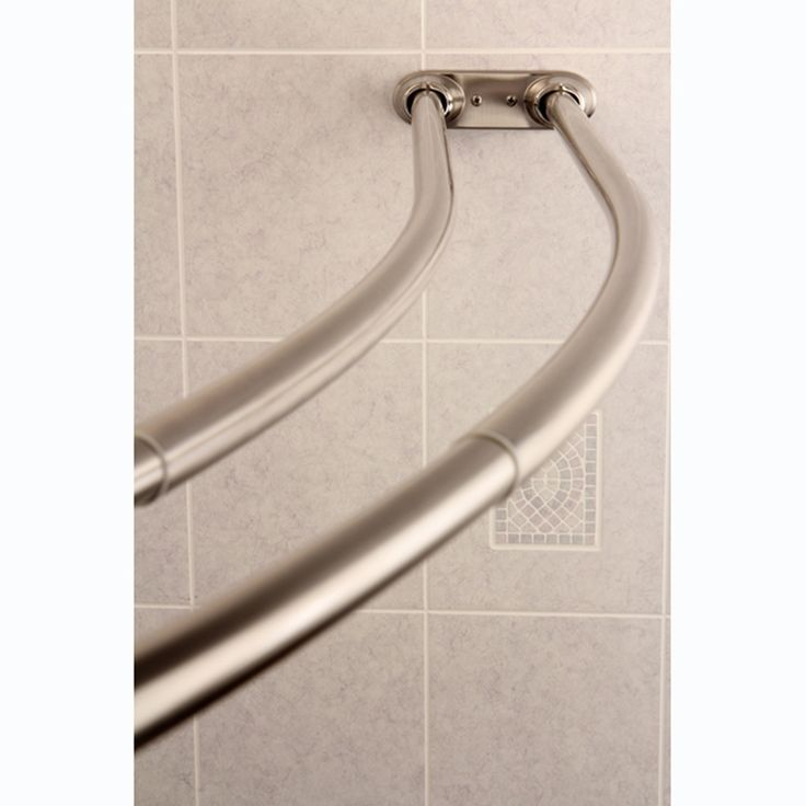 Add some elbow room to the shower with the assistance of this attractive satin nickel curved shower rod. This versatile stainless steel rod fits a wide range of shower sizes.