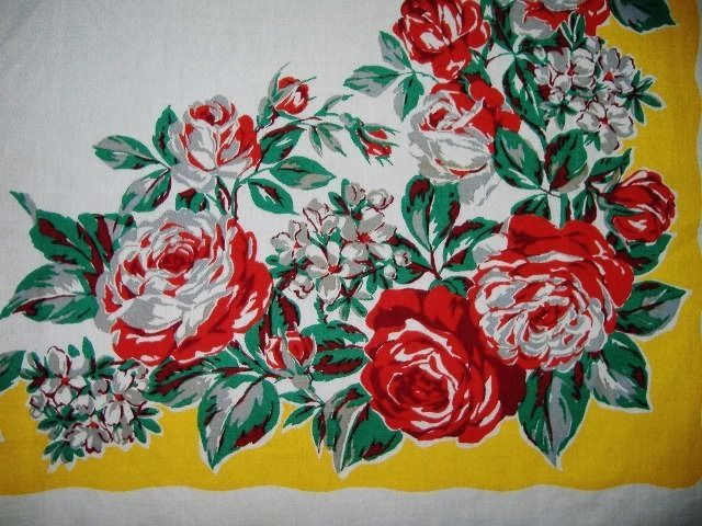 STUNNING VIVID VINTAGE VICTORIAN TABLECLOTH ``A WOW!! EXCELLENT in Tablecloths | eBay