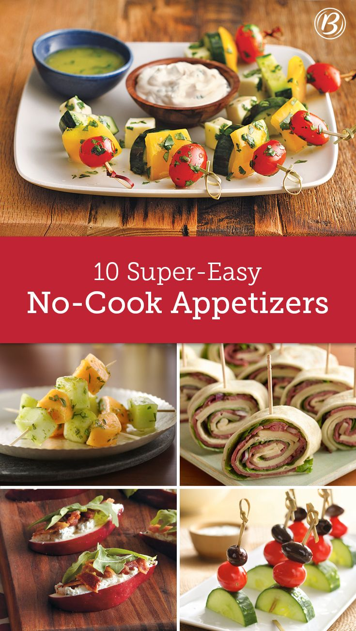 Save time without sacrificing flavor by serving no-oven-required appetizers at your next gathering.