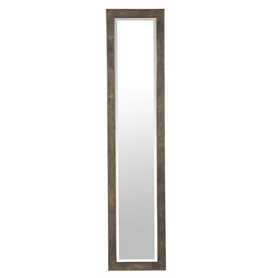 Faux Shagreen Full Length Dressing Mirror - Brown