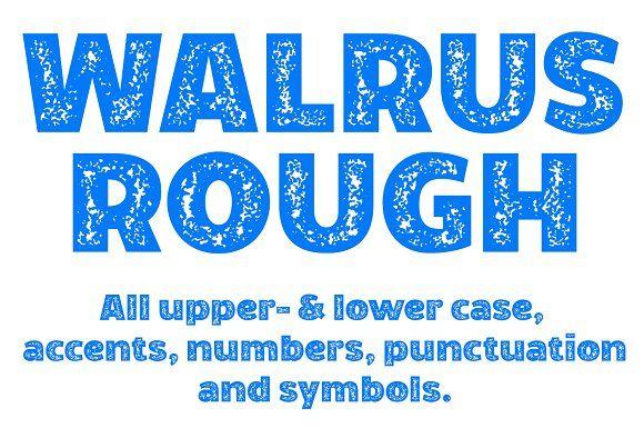 Walrus Rough font by Studio Dot by dot @layer3fonts #logo #logos #flourish #decorative #elegant #modern #romance #fonts #font #Photoshop #illustrator #retro #vintage #handmade #brush #hipster #quotes #photography #style #typeface #design #art #deco #geometric #WALRUS #FONT #ROUGH #OPENTYPE #OTF