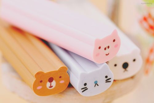 kawaii animal erasers // gomas de borrar animales
