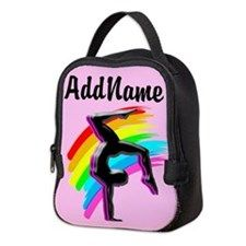 Pink Gymnast Pose Neoprene Lunch Bag Awesome personalized Gymnastics designs available on Tees, Apparel and Gifts. http://www.cafepress.com/sportsstar/10114301 #Gymnastics #Gymnast #WomensGymnastics #Gymnastgift #Lovegymnastics #PersonalizedGymnast