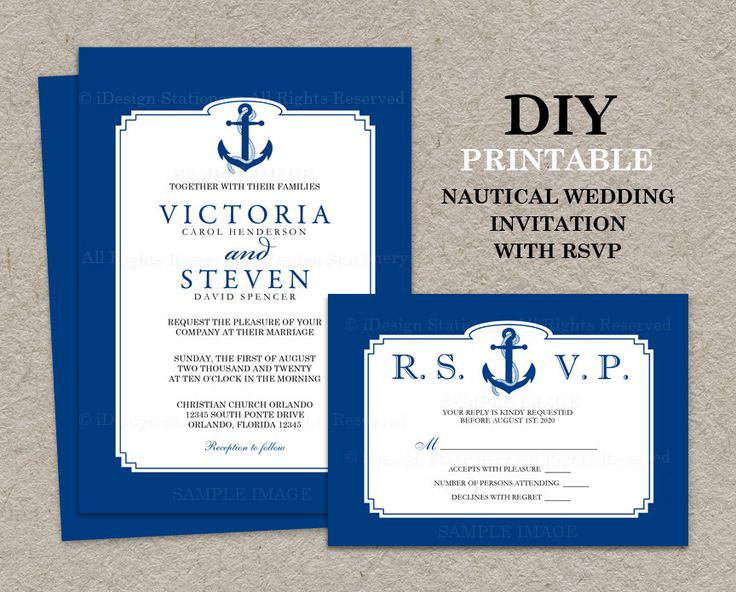 2566 best nautical wedding invitations images on pinterest, Wedding invitations